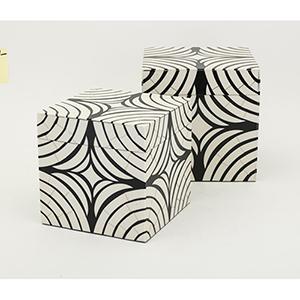 Daytona Black and White Box, Set of 2