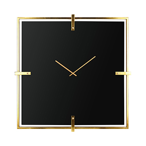 Connell Black Glass Wall Clock