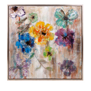 Maizon Floral: 40 x 40-Inch Framed Oil Painting
