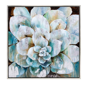 Delighted Flora Framed Oil Painting