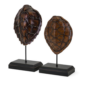 Sanem Turtle Shells on Stands, Set of 2