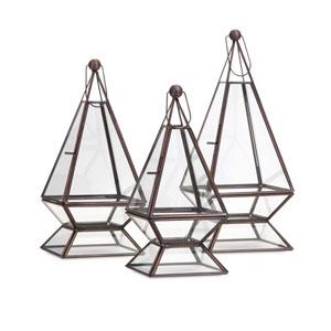 Laurel Terrariums , Set of 3