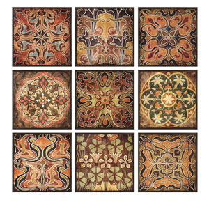 Tuscan Wall Panels - Set of 9 / Individually Framed