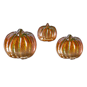 Jacks Pumpkin Glass Dishes, Set of 3