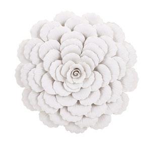 Evington White Large Porcelain Wall Flower