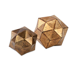 Anwell Gold Deco Ball, Set Of Two