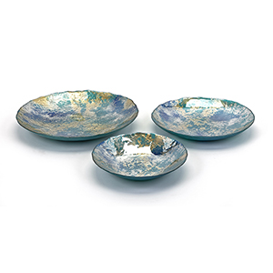 Athena Blue Glass Charger, Set of 3