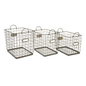 Newbridge Wire Storage Baskets - Set of Three