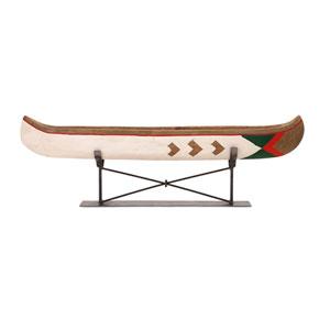 Adirondack Multicolor Large Canoe on Metal Stand