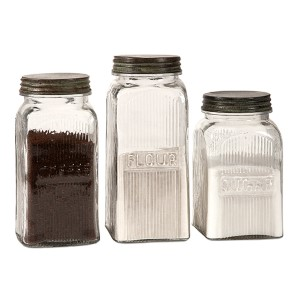 Dyer Glass Canister, Set of Three