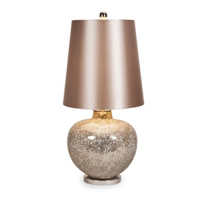 Corinth Gold Mosaic Glass One-Light Oversized Lamp