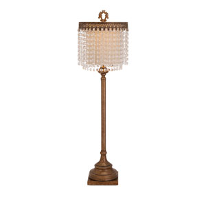 Maeveen Brown Crystal Beaded One-Light Table Lamp