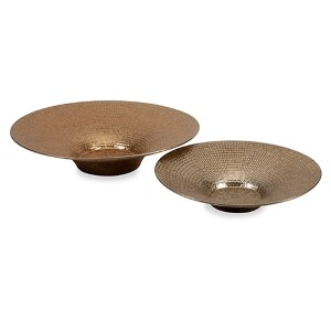 Dominic Bronze Metallic Charger, Set of Two
