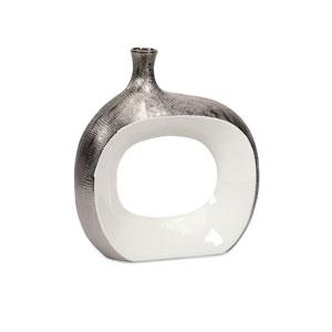 Riley Silver Large Metallic Vase