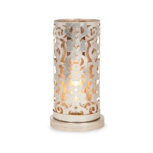 Landry Silver One-Light Hurricane Table Lamp