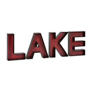 Red Lake Metal Wall Letters