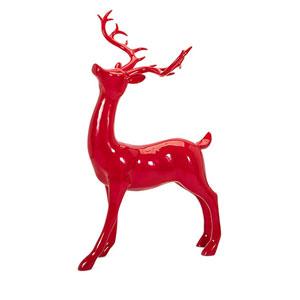 Red Playful Sitting Reindeer