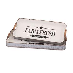 Farm Fresh Decorative Trays , Set of 2