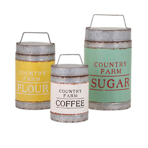 Dairy Barn Decorative Lidded Containers , Set of 3