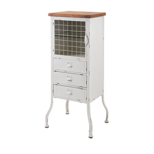 Zane Three-Drawer Metal Cabinet