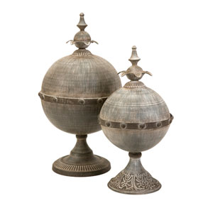 Decorative Lidded Sphere - Set of Two