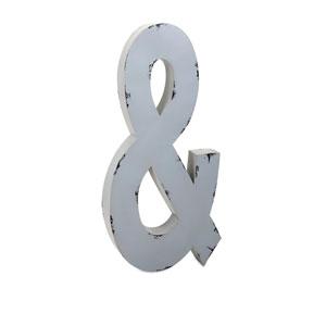 Ella Elaine White Oversized Metal Letter Ampersand