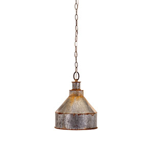 Rogers Grey One-Light Galvanized Pendant Light
