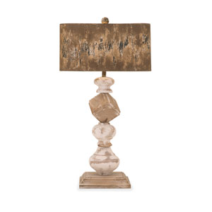Brook One-Light Wood and Metal Table Lamp
