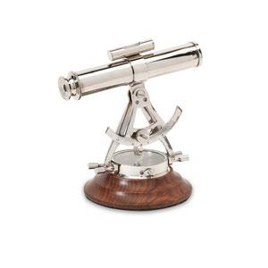 Alidade Silver Telescope Compass