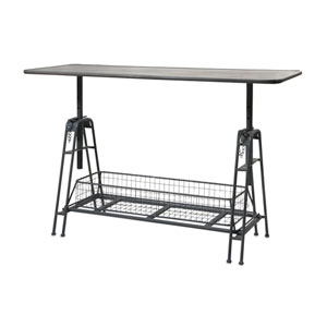 Henry Black Adjustable Metal Work Table