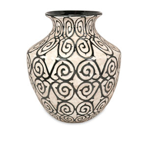 Benigna Bronze and Cream Wide Oversized Floor Vase