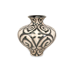 Benigna Bronze and Cream Short Vase