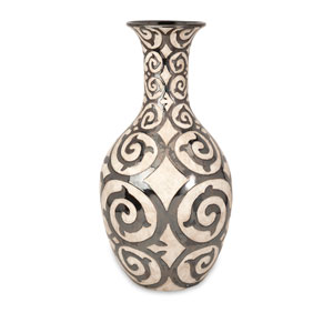 Benigna Bronze and Cream Tall Oversized Floor Vase