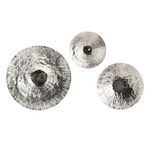 Fassett Silver Oversized Disc, Set of Three