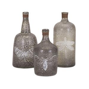 Folly Glass Bottles , Set of 3