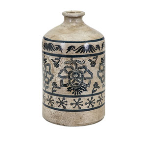 Laural Large Hand-Painted Vase