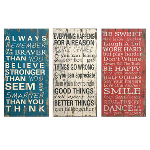 Rules of Life Wall Decor , Set of 3