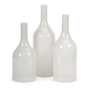 Monteith White Cloche Bottle, Set of Three