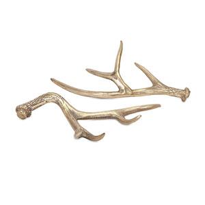 Hodge Gold Deer Antlers, Set of 2