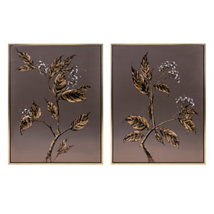 Cultivated Shadow Framed Oil Paintings, Set of 2