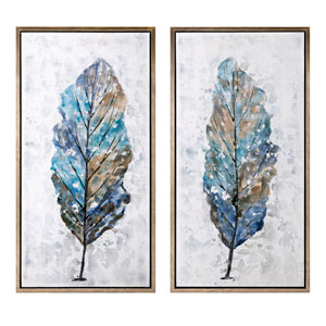 Foliage Framed Oil Painting, Set of 2