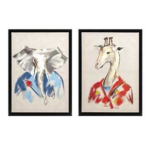 George and Charles Painting on Canvas, Set of 2