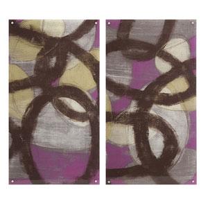 Fuchsia Links Acrylic Floating Wall Art, Set of 2