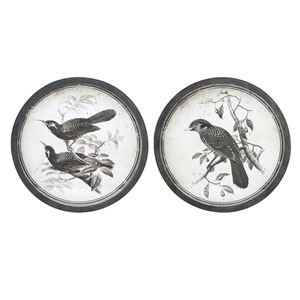 Black and White Bird Wall Decor, Set of 2