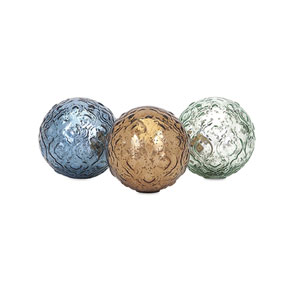Katrina Glass Spheres, Set of 3