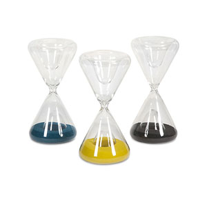 Lagos Glass Hourglasses, Set of 3