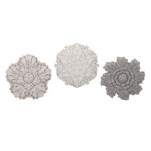 Ella Elaine Dimensional Wall Flowers, Set of 3