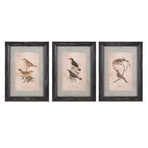 Woodland Bird Wall Decor, Set of 3