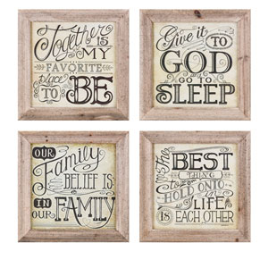 Inspired Wall Decor, Set of 4