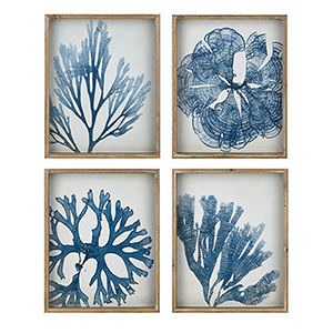 Ionian Blue Wall Décor, Set of 4